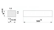 PIASTRE RETTIFICATE IN ACCIAIO UNI 90MnVCr8 N. 1.2842 cod.350