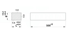 PIASTRE RETTIFICATE IN ACCIAIO UNI X205Cr12 N. 1.2080 cod.351