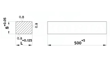 PIASTRE RETTIFICATE IN ACCIAIO UNI 100MnCrW4 N. 1.2510 cod.352