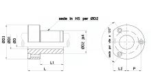 BUSSOLE CON FLANGIA DIN 9831 ISO 9448-5 PER GABBIE A SFERE-RULLI PER STAMPI cod.400N31F