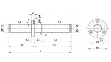 COLONNE CON FLANGIA INTERMEDIA TIPO EUROPA PER STAMPI cod.400N417