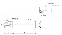 COLONNE CON ATTACCO CONICO PER STAMPI cod.400N440