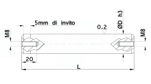 COLONNE CON 2 FORI FILETTATI DIN 9825 ISO 9182 PER STAMPI cod.400N982F2