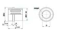 BUSSOLE A RICIRCOLO DI SFERE MOD. DS 20 PER STAMPI cod.54SF