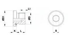 TAPPI CILINDRICI ACCIAIO 5.8 FOSFATATO CON GUARNIZIONE PER STAMPI cod.622
