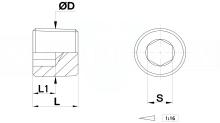 TAPPI CONICI DIN 906 OTTONE OT58 PER STAMPI cod.626