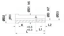 BUSSOLE STRAPPA MATEROZZA PER STAMPI cod.67SM