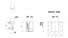 DATARI A VITE PER STAMPI MATERIALI PLASTICI cod.735A