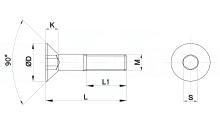 VITI UNBRAKO TESTA SVASATA PIANA CON CAVA ESAGONALE UNI EN ISO 10642 CLASSE RESISTENZA 12.9 cod.96
