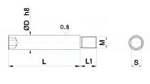 COLONNINE DI GUIDA DIN ISO 10069-2 PER BARRE IN POLIURETANO PER STAMPI cod.97ST