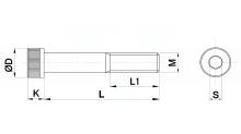 VITI UNBRAKO TESTA CILINDRICA CON CAVA ESAGONALE UNI EN ISO 4762 CLASSE RESISTENZA 12.9 cod.98